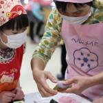 3年生「桜餅づくり」授業